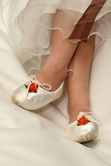 Flowergirl Feet Stock Photo