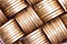 Free Columns Of Gold Coins Royalty Free Stock Image - 39135426