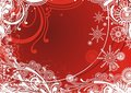 Free Red Snowflakes Background Stock Image - 3929041