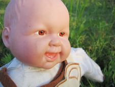 Free Smiling Baby Doll Royalty Free Stock Photos - 3920728