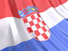 Free Glossy Flag Of Croatia Royalty Free Stock Images - 3920849