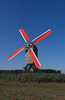 Free Old Windmill Belgium Royalty Free Stock Photo - 3921055