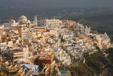 Sunset Thira, Santorini, Greece Royalty Free Stock Image