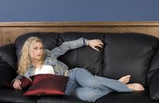 Free On The Couch Stock Photo - 3922520