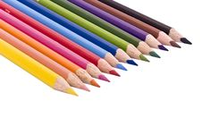 Free Pencils In A Row Royalty Free Stock Image - 3923456