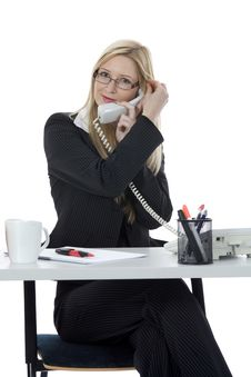 Free Bussines Woman  Working Stock Image - 3924841