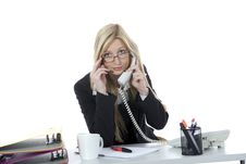 Free Bussines Woman  Working Stock Photography - 3924852