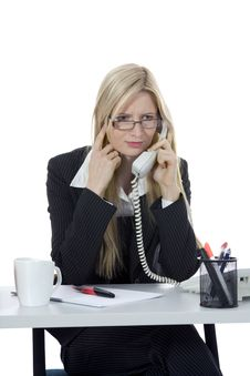 Free Bussines Woman  Working Royalty Free Stock Images - 3924869