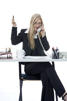 Free Bussines Woman  Working Stock Images - 3924874