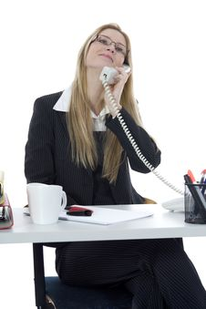 Free Bussines Woman  Working Royalty Free Stock Photography - 3924877