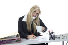 Free Bussines Woman  Working Stock Images - 3924884
