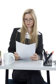 Free Bussines Woman  Working Stock Photo - 3924900