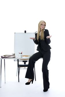 Free Bussines Woman  Working Stock Photography - 3924952