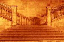 Night Stairway Stock Photos