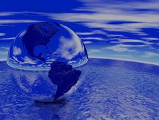 Globe Render Royalty Free Stock Images