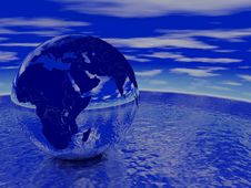 Globe Render Royalty Free Stock Photo