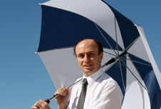 Free Brolly Businessman Royalty Free Stock Photos - 3926938