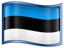 Estonia Flag Icon Stock Photos