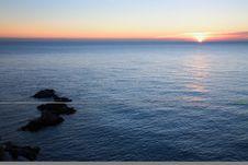Free Sunst At Sea Stock Photos - 3927593