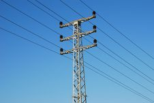 Free Electrical Tower And Wires Stock Image - 3928771