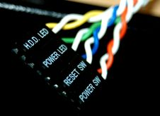 Free Computer LED Cables Royalty Free Stock Images - 3929059