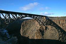 Free Railroad Bridge Royalty Free Stock Photo - 3930805