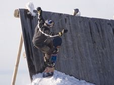 Free Snowboard Jump Royalty Free Stock Photo - 3930935
