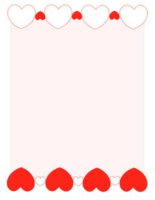 Free Red Hearts Valentine S Day Background/ Frame Royalty Free Stock Photos - 3933708