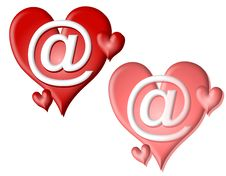 Free Valentine Hearts AT Signs Clip Art Royalty Free Stock Photo - 3934605
