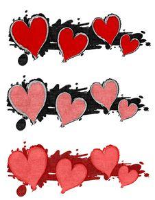 Grunge Ink Splatter Hearts Clip Art Royalty Free Stock Photo