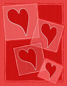 Striped Paper Valentine Hearts Background Royalty Free Stock Photography