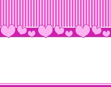 Free Pink Purple Hearts Stripes Bor Royalty Free Stock Image - 3934756