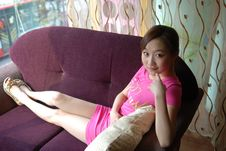 Free Pink Girl Royalty Free Stock Photos - 3934898