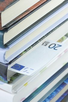 Euro Bill Bookmark Royalty Free Stock Photos