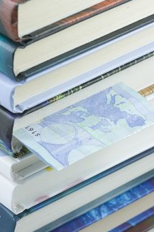 Euro Bill Bookmark Royalty Free Stock Images