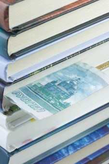Roubles Bill Bookmark Stock Photo