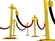 Free Stanchion Barrier Royalty Free Stock Images - 3935379