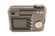 Free Isolated Digital Camera Back On White Stock Photo - 3935500
