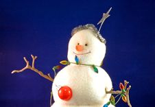 Free Stuffed Toy Christmas Snowman Royalty Free Stock Photography - 3936247
