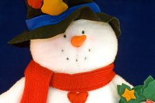 Free Colorful Stuffed Snowman Royalty Free Stock Image - 3936256