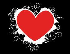 Free Grunge Red Heart Illustration Royalty Free Stock Image - 3936526