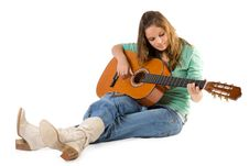 Free Young Girl With Guitar. Stock Photos - 3936943