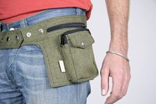 Free Male Belt Bags Pouches Stock Photography - 3937052
