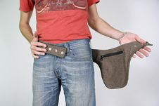 Free Male Belt Bags Pouches Royalty Free Stock Images - 3937059