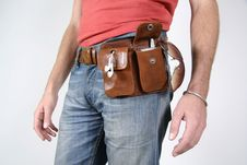 Free Male Belt Bags Pouches Stock Images - 3937064