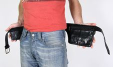 Free Male Belt Bags Pouches Royalty Free Stock Image - 3937066