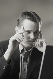 A Working Man Stock Photo