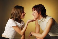 Free A Mother With Her Daughter Stock Photo - 3937810