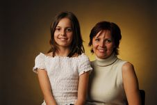 Free A Mother With Her Daughter Royalty Free Stock Photos - 3938088