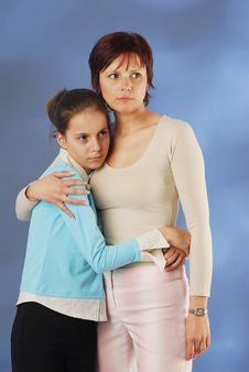 Free A Mother With Her Daughter Royalty Free Stock Photo - 3938135